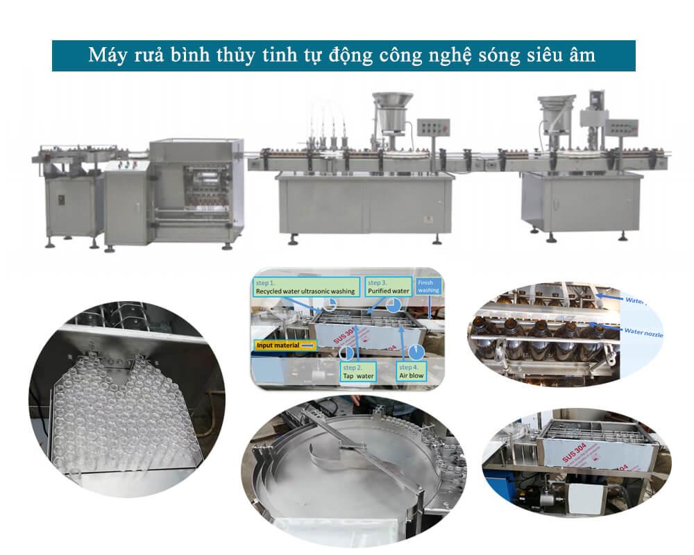 Máy rửa chai/lọ thủy tinh bằng sóng siêu âm LTBUW_250