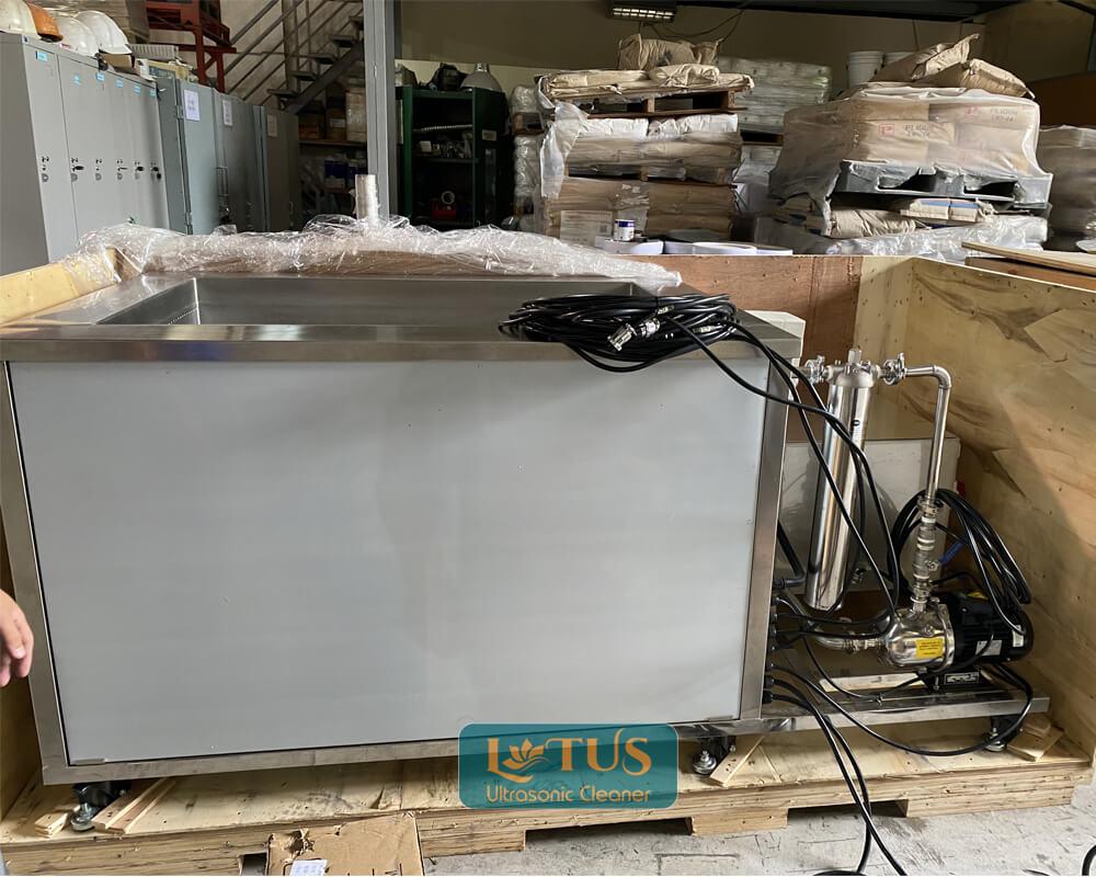 Lắp đặt bể siêu âm tích hợp lọc tràn