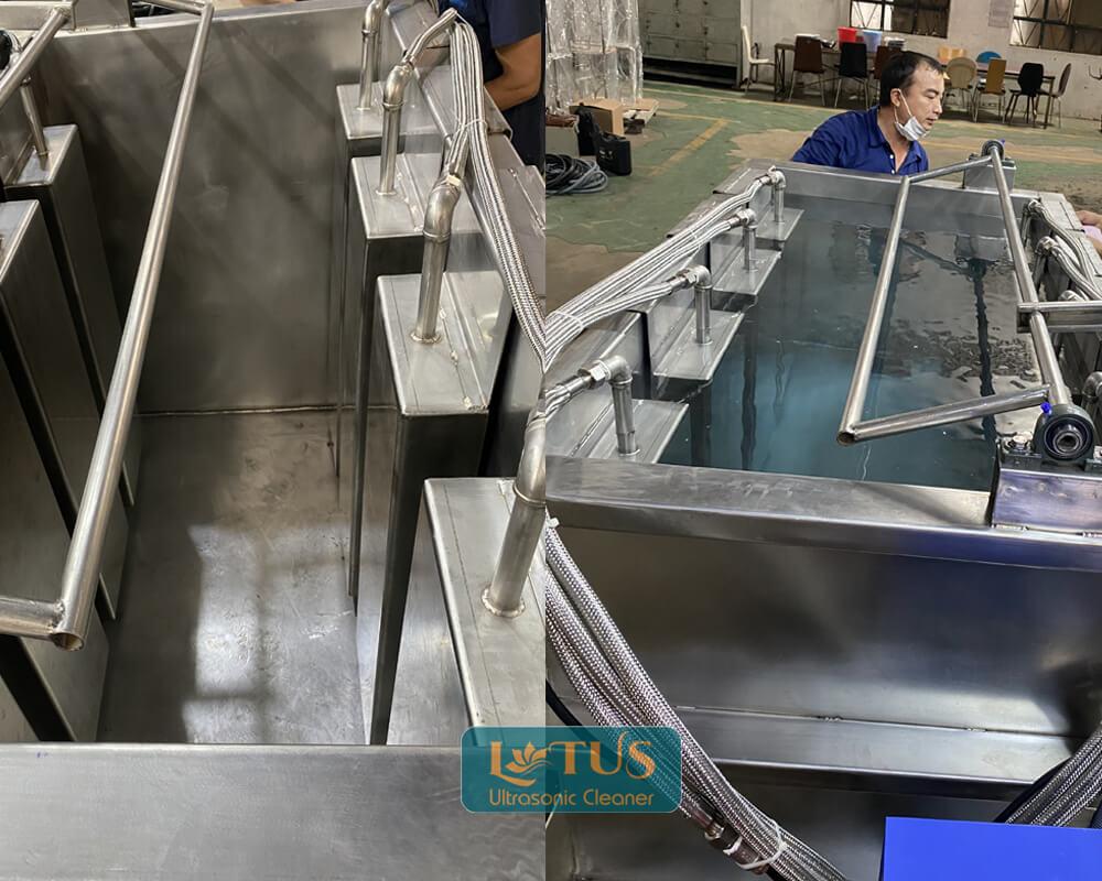 Bể rửa siêu âm cho đơn vị xi mạ